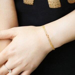 Image 5 - 18k זהב טהור שרשרת לבן צהוב עלה שרשרת חרוזים לנשים ילדה מתנת תכשיטים ניו חמה למכור יוקרתי למעלה טוב נחמד כמו