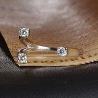 14K WHITE GOLD TEST POSITIVE ROUND MOISSANITE LAB GROWN DIAMOND RING
