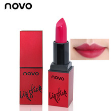 NOVO Velvet Smooth Lipstick Matte Red Lip Stick Velvet Long Lasting 24 Hours Lip Care Red Wine Colors for Sexy Lip Makeup