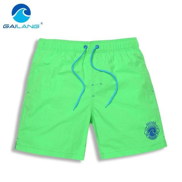 2e25fd5a30a36 Gailang Marca Homens Praia Shorts Boardshorts Troncos do Pugilista dos homens  Swimwear Maiôs Boxer Bottoms Bermuda