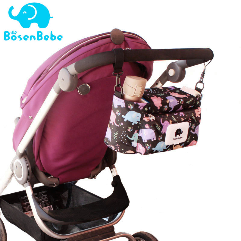 Baby Stroller Organizer  Mummy Diaper Nappy Bag Mom Travel Hanging Carriage Pram Buggy Cart Bottle Stroller Accessories