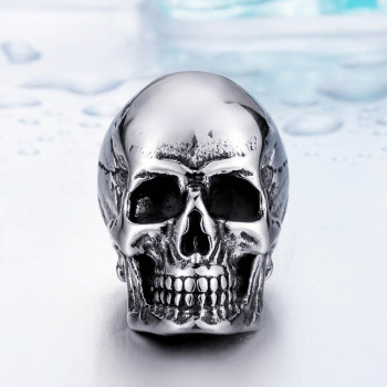 Super Punk Skull Biker Pendant Necklace 1