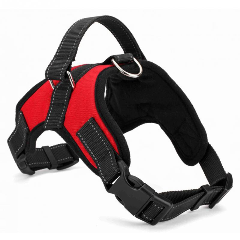 Dog Supplies Soft Adjustable Harness Pet Large Dog Walk Out Harness Vest Collar Hand Strap Pet Products Dog Harness Accessories s m l xl 7 colors pet cats dog leash large dog soft adjustable dog harness pet supplies walk out hand strap vest collar for dogs