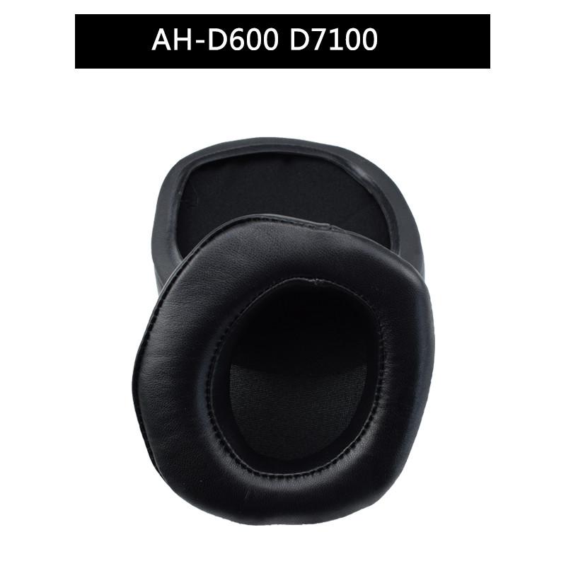 Protein leather Ear pads replacement cover For DENON AH D7100 AH D600 Headphones earmuffes headset cushion in Earphone Accessories from Consumer Electronics