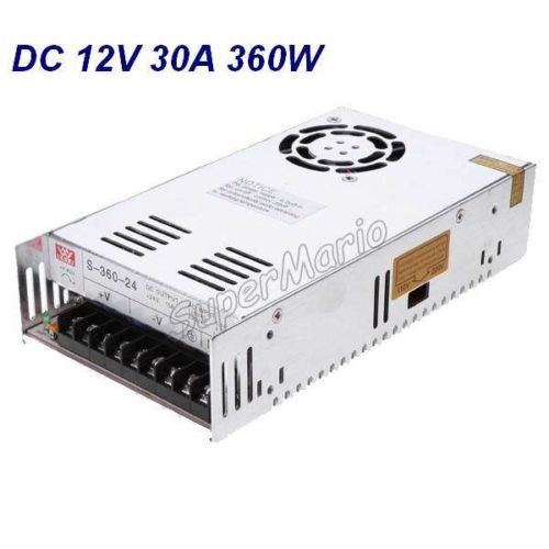 Hot Selling MW High Quality 12V 30A 360W DC Regulated Switching Power Supply CNC-33 free shipping mw high quality 24v 15a 360w dc regulated switching power supply cnc for led strip light free shipping cnc 05