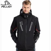 Комментариев поля пеллио -30 градусов супер теплая зима лыжная куртка мужчины Водонепроницаемый дышащий сноуборд снег куртка открытый катание на лыжах лыжная одежда