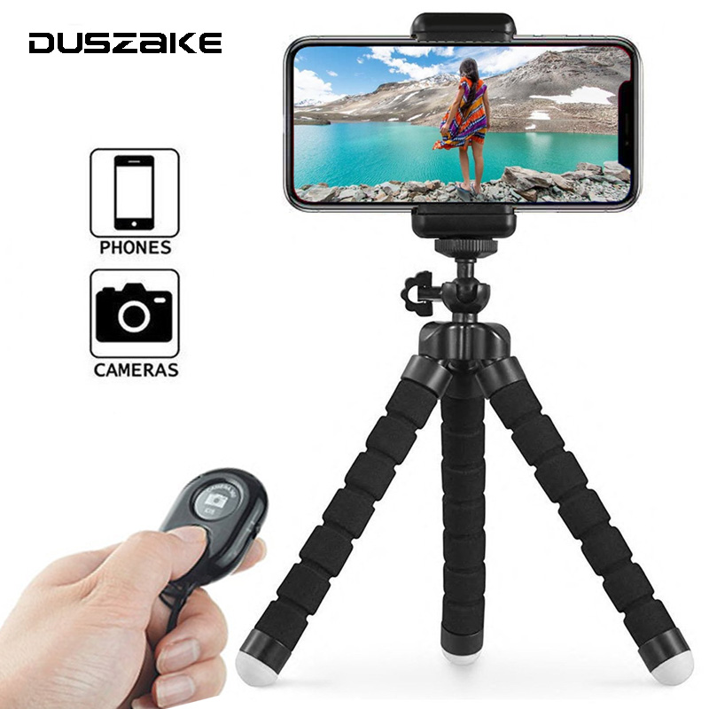 DUSZAKE Flexible Gorillapod Octopus Mini Tripod for Phone Camera Mini Tripods for Phone Mobile Tripod For iPhone Samsung Xiaomi duszake dt2 camera mini tripod for phone stand aluminum for iphone tripod for phone camera mini tripod for mobile gorillapod