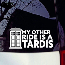 hot deal buy my other ride is a tardis vinyl decal sticker doctor who car window sticker car accessories motorcycle helmet car styling