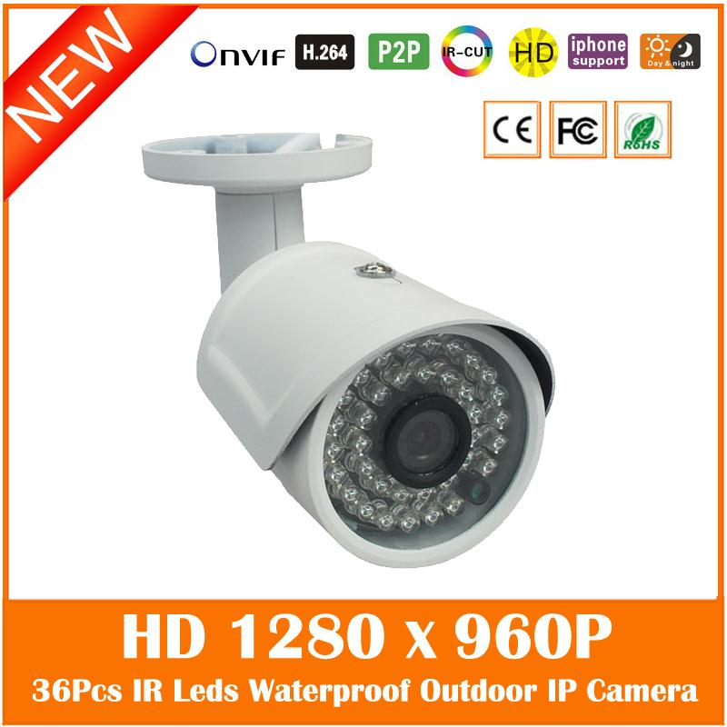 1.3mp Hd 960p Bullet Ip Camera Outdoor Waterproof Motion Detect Surveillance Security Cctv Cmos Webcam Freeshipping Hot Sale wistino white color metal camera housing outdoor use waterproof bullet casing for cctv camera ip camera hot sale cover case
