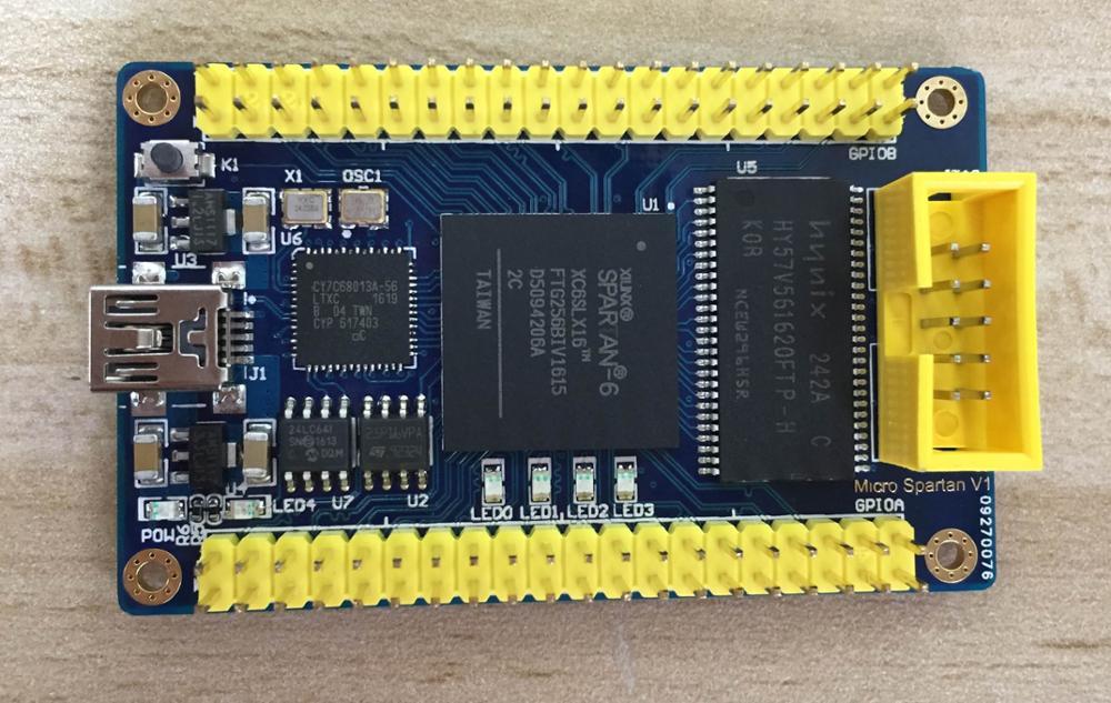 For XILINX FPGA minimum core board XC6SLX16+USB+SDRAM compatible LX9 LX25
