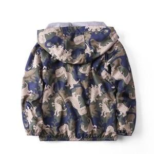 Image 3 - Boy Jacket Coat Boy Spring Hooded Coat Dinosaur Printed Very Good Quality for 3 12 years old Brand Kids Boys Windbreaker