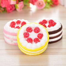 Fun Antistress Squishy Cake Novelty Gag Toys Funny Squishe Stress Relief Practical Jokes Toys For Popular Squeeze Gifts(China)