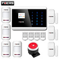 Quad4 Band LCD Smart Touch Keypad Panel Wireless PSTN SMS Voice Burglar GSM Android IOS APP remote Arm Alarm Security System