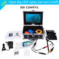 "KKmoon HD 1200TVL 15M Underwater Fishing Camera 7"" TFT LCD Monitor Video Fish Finder System Night Vision Camera 12pcs LED Lamps"