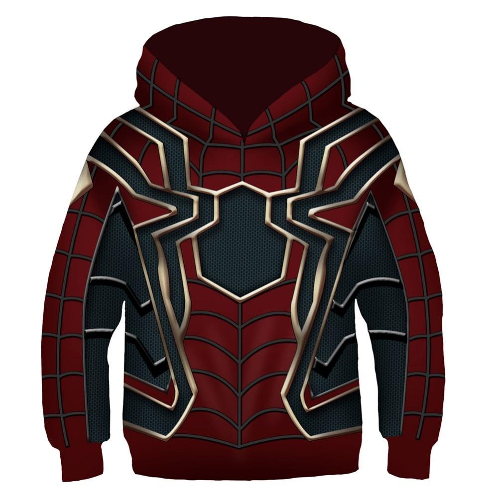 Spider-Man Hoodie Kids Hoody Hoodie Red Sweatshirt Pullover Hoodie