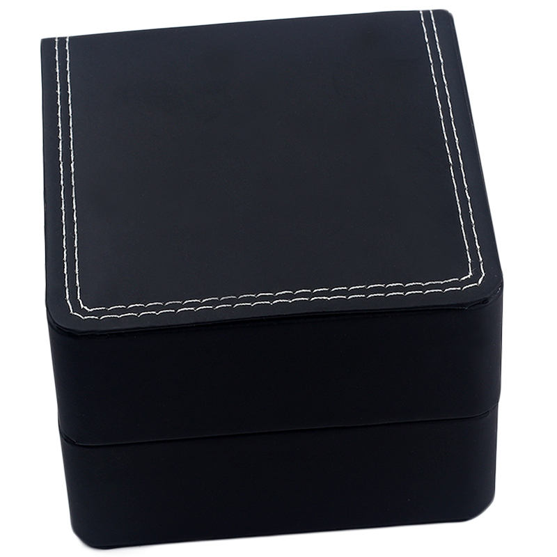 Wholesale black 2019 fashion Luxury Leatherette Watch Boxe With Pillow Package Jewelry Storage Case Gift Box Accessories