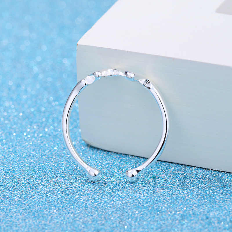 แฟชั่น 925 เงินสเตอร์ลิงแหวนเรขาคณิตสำหรับผู้หญิงงานแต่งงานเครื่องประดับ Punk Retro โบราณปรับขนาดนิ้วมือแหวน