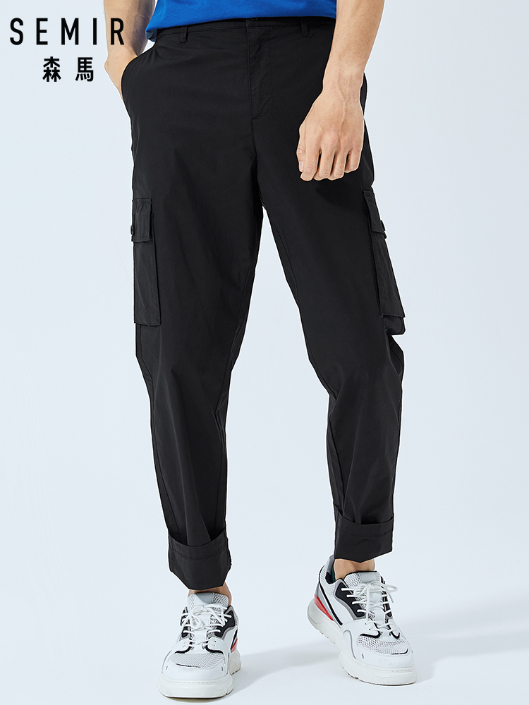 SEMIR Pants Men Overalls Sports Korean Summer New Chic And Tide Brand Leisure Young-Students