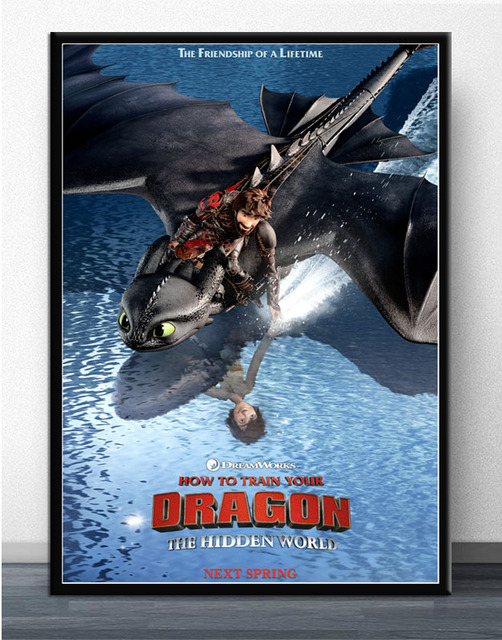 Mx115 How To Train Your Dragon 3 The Hidden World 2019 Comic Movie Poster Art Silk Light Canvas Home Room Wall Printing Decor Painting Calligraphy Aliexpress