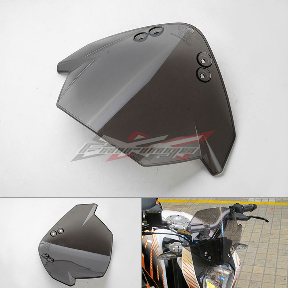 FREE SHIPPING Front Smoked Windscreen Windshield Fits For KTM 125 200 390 Duke