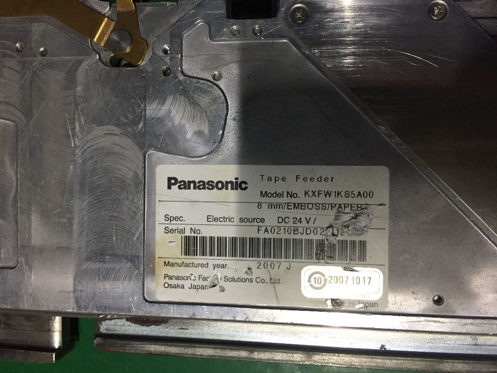 Panasonic KXFW1KS5A00 8mm feeder manufactured year 2007 brand new smt yamaha feeder ft 8 2mm feeder used in pick and place machine