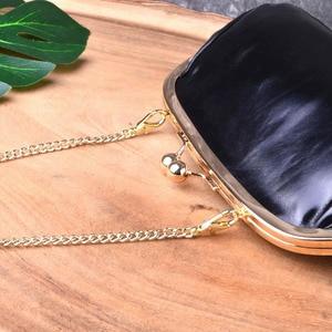 Image 3 - AETOO Clip pocket retro simple clip gold bag mini leather hand shoulder diagonal bag packet female