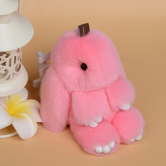 Показ товаров природных кролика кулон ключа автомобиля цепи мешок украшения играть мертвого кролика меховые аксессуары бесплатная доставка F836