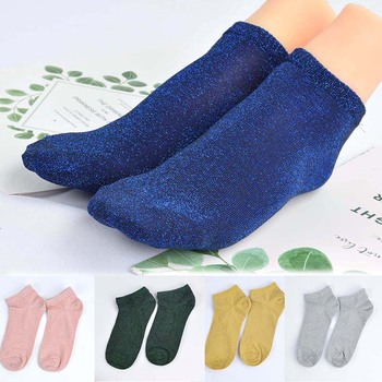 Glitter Shiny Socks Short Socks