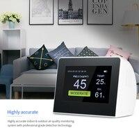 Крытый Открытый цифровой Air Quality детектора Многофункциональный HCHO и TVOC тестер CO2 метр CO2 монитор с Перезаряжаемые Батарея