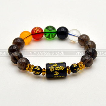 China Feng shui The Five Elements Transport Crystal Bracelet Wealth & Good Luck bead Gemstone Bracelet Good Quality