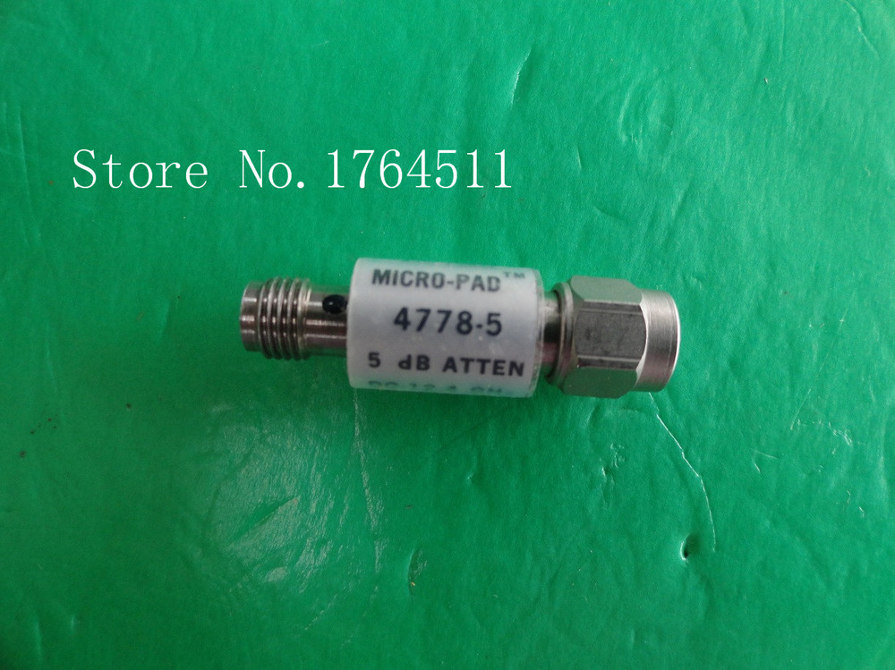 [BELLA] NARDA 4778-5 DC-12.4GHz 5dB 2W SMA Coaxial Fixed Attenuator  --2PCS/LOT