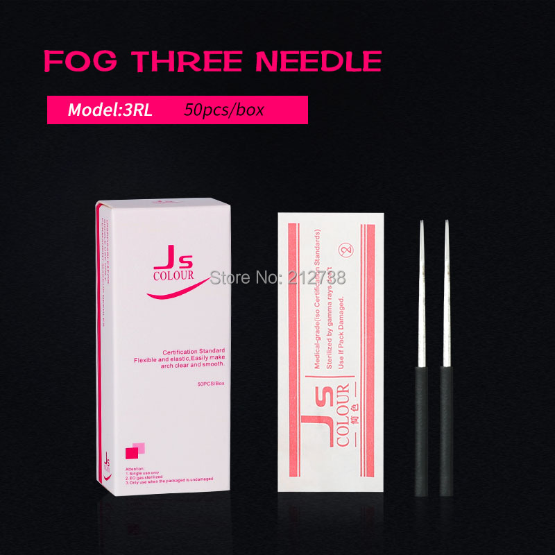 50pcs 3RL 5RS  Tattoo Needle Semi Permanent Makeup Microblading Blade Manual Pen Fog Needle Tattoo Accessory Supply High Quality