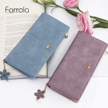 Модные женские цветочный кожаный бумажник Изменить женские кошельки держателей кредитных карт Леди Женский Длинный кошельки для