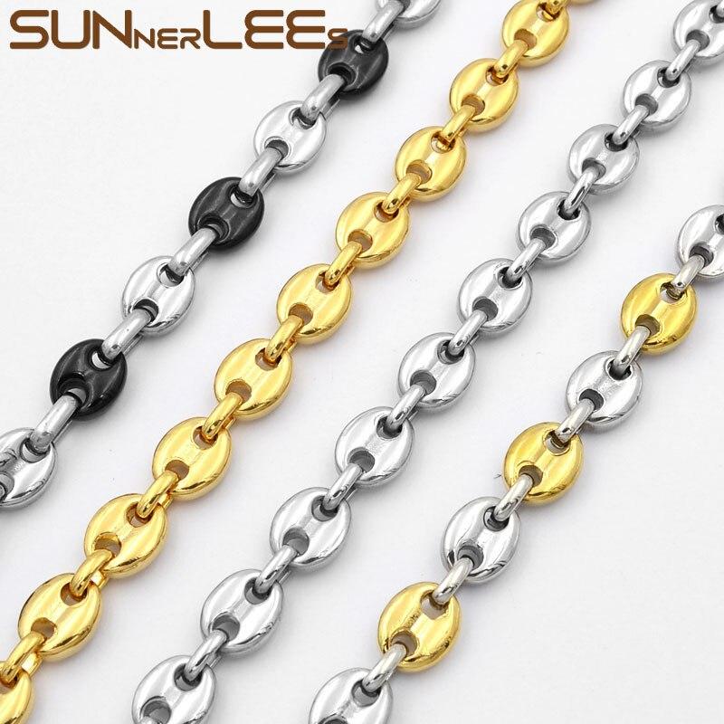 "30/""MEN Stainless Steel 2mm Black Franco Box Curb Necklace Plain Cross Pendant*BP"