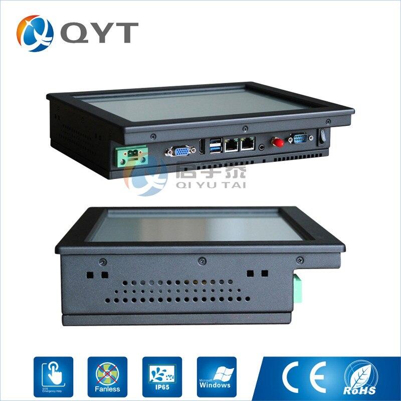Pc industriel Intel j1900 2.0 GHz avec 2LAN/4USB2. 0 10 écran tactile intégré panneau pc 2 GB RAM 32G SSD Résolution 800x600