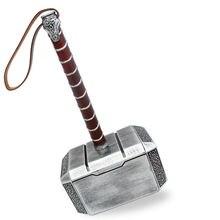 Коллекция косплей Мстители Тор 1:1 резиновая имитация игрушка «Молоток» костюм для детей, взрослых вечерние Thor hammer Реплика модель игрушки