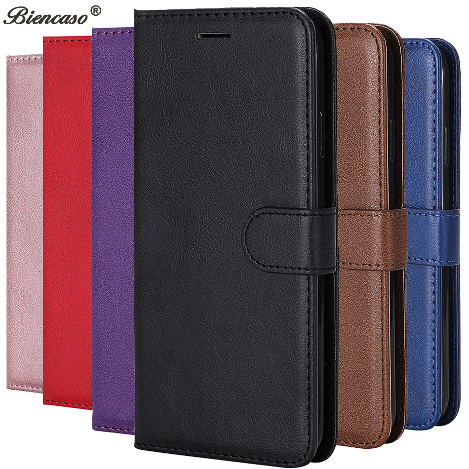 sFor iPhone XS Max Flip Solid Color Case For iPhone X XR 5 5S SE 6 6S 7 8 Plus Simple Leather Wallet PU Mobile Phone Cover B128(China)