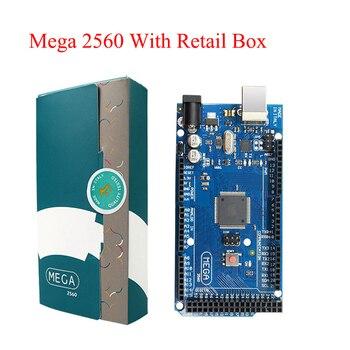 Mega 2560 R3คณะกรรมการ2012 Offcialรุ่นที่มีATMega 2560 ATMega16U2ชิปไดร์เวอร์แบบบูรณาการพร้อมกล่องค้าปลีกเดิม