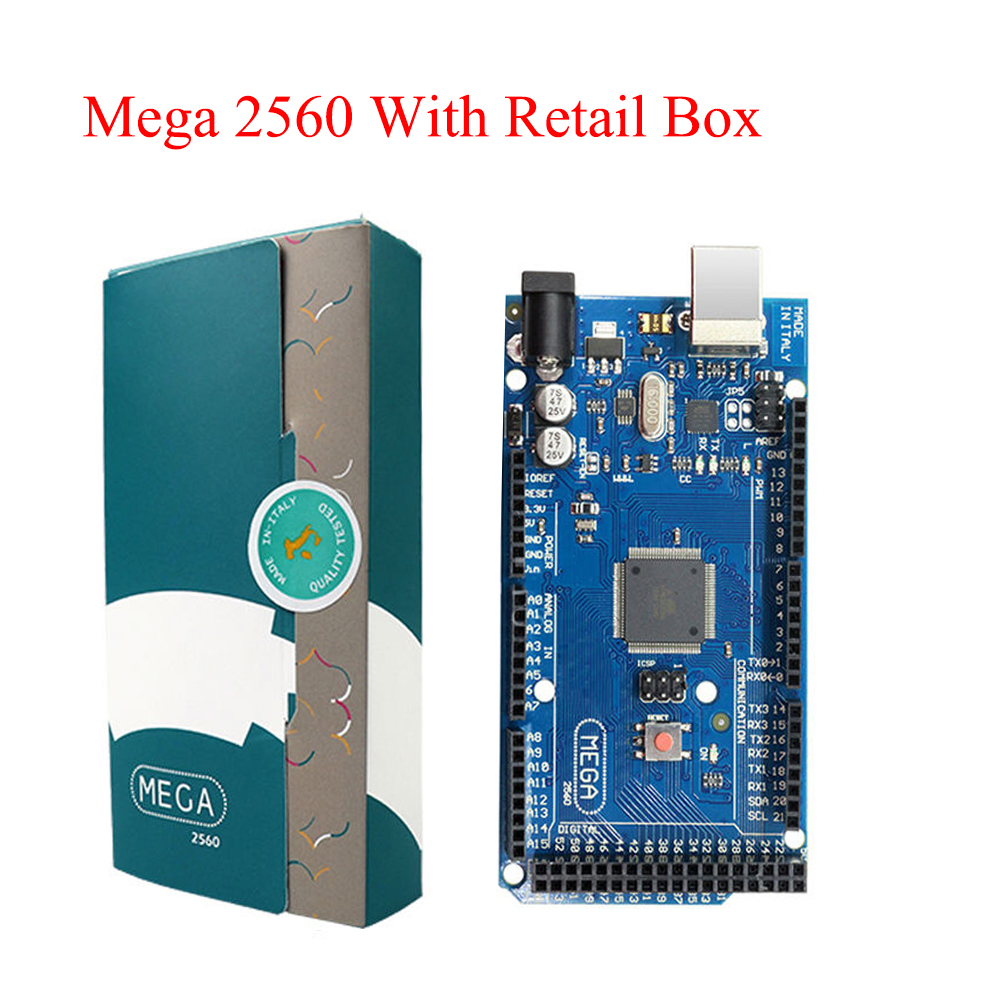 Mega 2560 R3 Board 2012 Offcial Version with ATMega 2560 ATMega16U2 Chip Integrated Driver with Original Retail Box