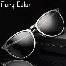 c1550193c07ab De alumínio E Magnésio Polarizada Óculos De Sol das mulheres dos homens  Rivet luxo marca de Design retro óculos de sol Masculino.