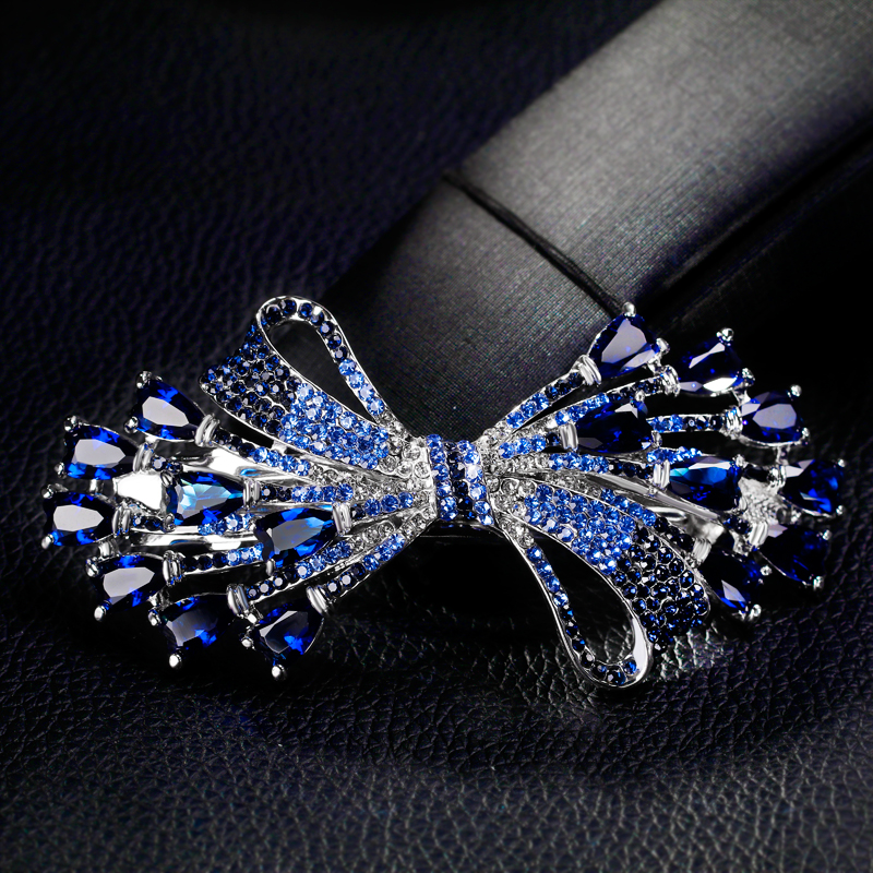 Danbihuabi Fashion shiny rhinestone hair clips colorful bow girl women alloy big hairpin accessories jewelry ...
