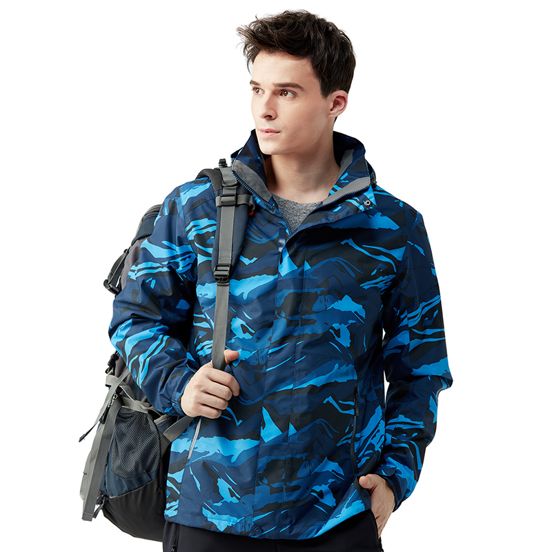 Men Outdoor Waterproof Coats Hiking Jackets Camouflage With Hood Tactical Coat Sweatshirt Wear-resistant Military Jacket Man