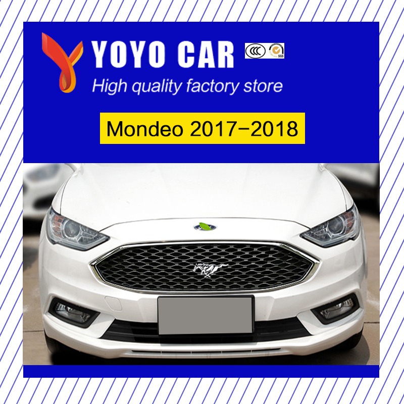 New design ABS modify car front grille racing grills grill cover trim for Mondeo 2017 2018