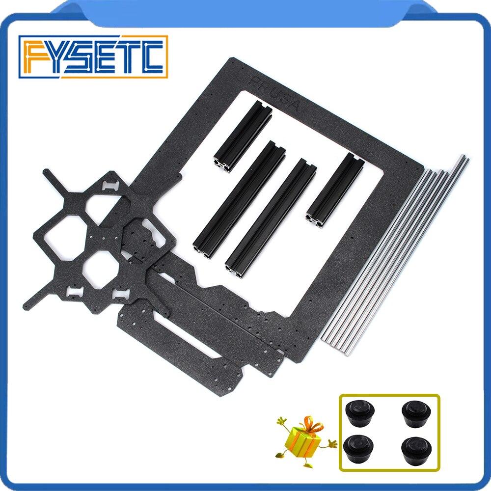 Peças de Impressora Prusa i3 MK3 3D Originais Clone Kit Moldura de Alumínio Perfil de Alumínio Preto E Hastes Lisas
