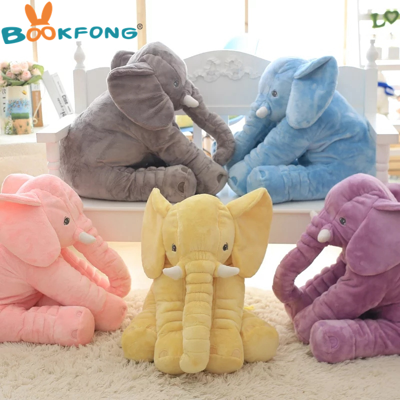 BOOKFONG Drop Shipping 40cm Infant Soft Appease Elephant Pillow Baby Sleep Toys Room Decoration Plush Toys for kids 40cm new fashion animals toys stuffed soft elephant pillow baby sleep toys room bed decoration plush toys for kids