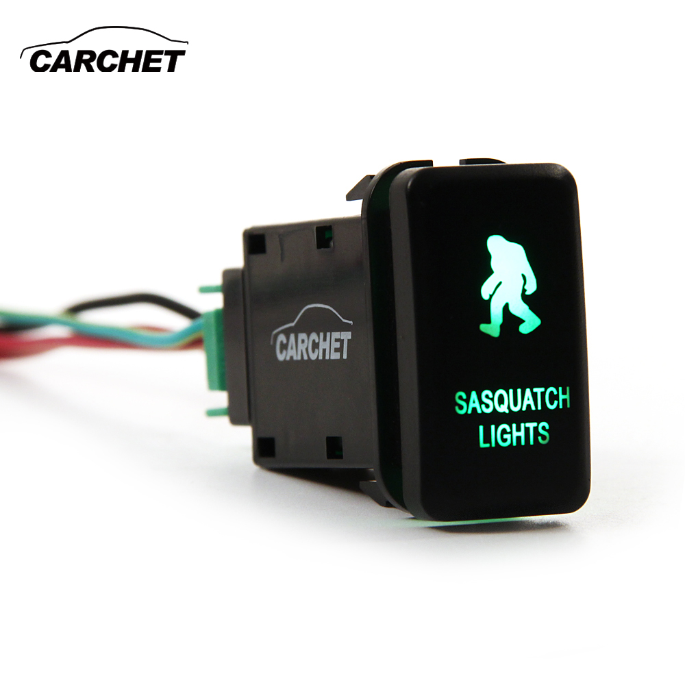 CARCHET 12V Switch LED Light Switch Push on off Switch with Wire ...