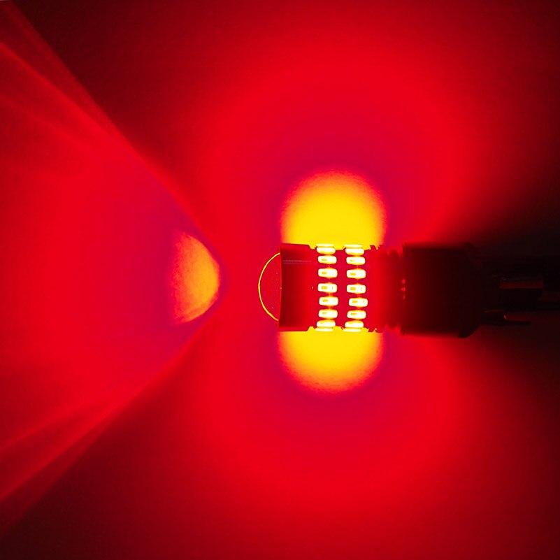 AUXITO 2pcs T20 W21W LED W21/5W LED WY21W 7440 7443 LED Bulb T25 3157 3156 Car Brake Reverse Light Lamp Red Turn Signal 4014 SMD