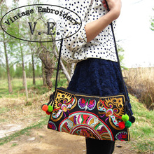 Vintage Embroidery national trend ethnic bag handmade double faced Embroidered Messenger shoulder bag handbags