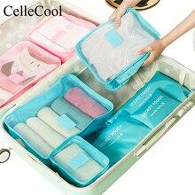 6 PCS Travel Storage Bag Set  Clothes Tidy Suitcase Pouch Organizer Case Shoes Packing Cube bag