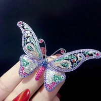 butterfly brooch white multi color 925 sterling silver fine women jewelry free shipping